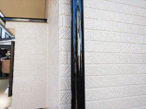 竪樋塗装  刷毛で塗装することで表面がツルッとし輝きが増します