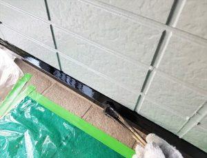 水切り板金塗装  刷毛にて塗装