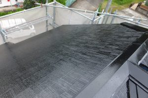 カラーベスト屋根塗装 下地良好 ヤネMシリコン ブラック