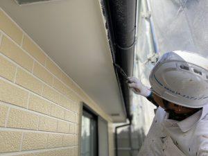 付帯部塗装 霧除け 庇塗装