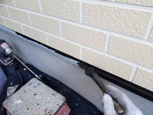 付帯部塗装 霧除け塗装 庇塗装 水切り板金塗装