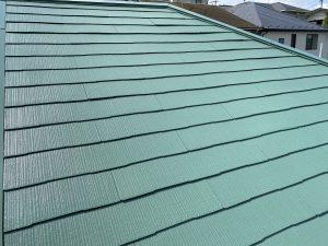屋根塗装 仕上 ファインパーフェクトベスト ミラノグリーン