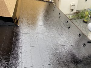カラーベスト屋根,仕上げ塗装,完成